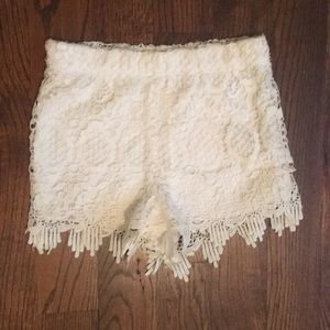 Charlotte Russe Lacey Shorts XS